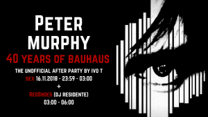 Peter Murphy – Unofficial After Party